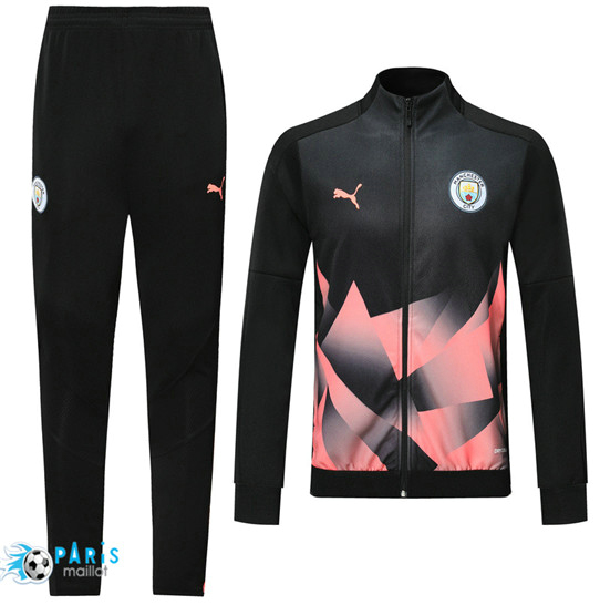 Maillotparis Nouveau Veste Survetement Manchester City Noir/Rose 2019/20