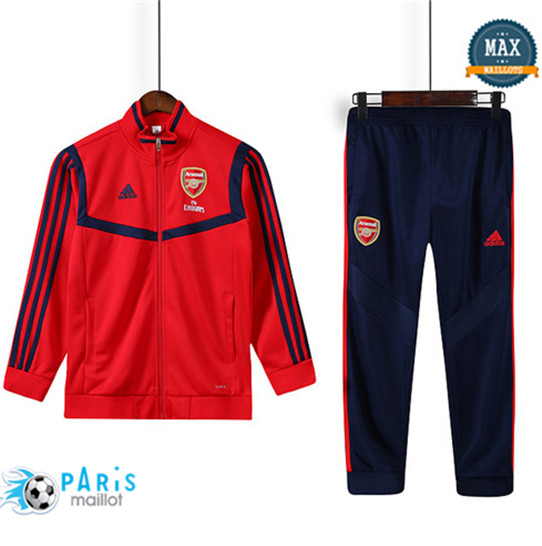 Maillotparis Nouveau Veste Survetement Enfant Arsenal Rouge 2019/20
