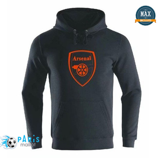 Maillotparis Nouveau Sweat à capuche Arsenal Noir 2019/20