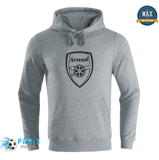 Maillotparis Nouveau Sweat à capuche Arsenal Gris 2019/20