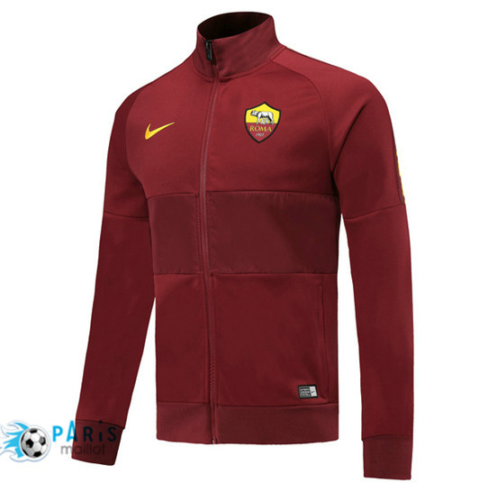 Maillotparis Nouveau Veste de Foot AS Roma Jujube Rouge 2019/20