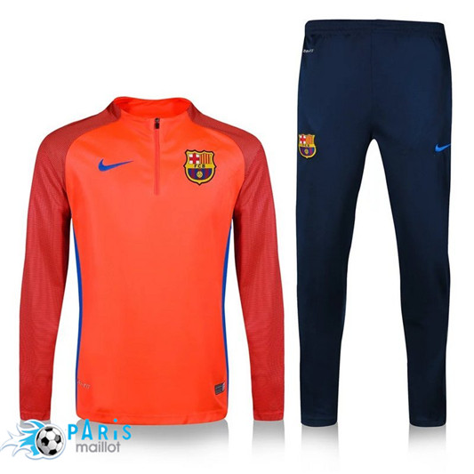 Survêtement FC Barcelone Orange Printing 2016/17
