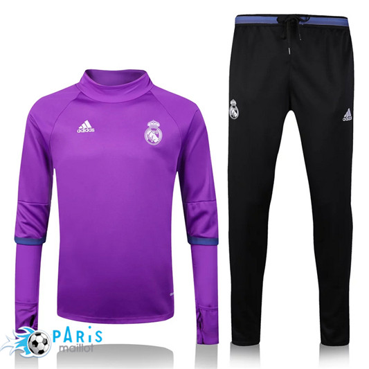 Survêtement Real Madrid Collar Pourpre/Noir 2016/17