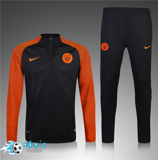 Survêtement Manchester City Enfant Noir/Orange 2016/2017