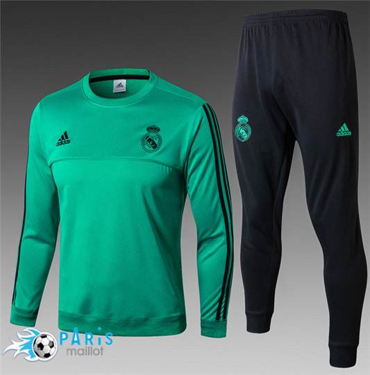 Survêtement Real Madrid Col Rond Vert 2017/18