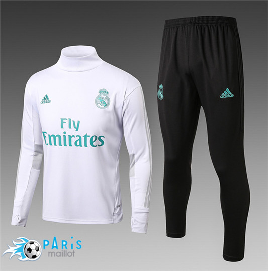 Survêtement Real Madrid Col haut Blanc fan 2017/18