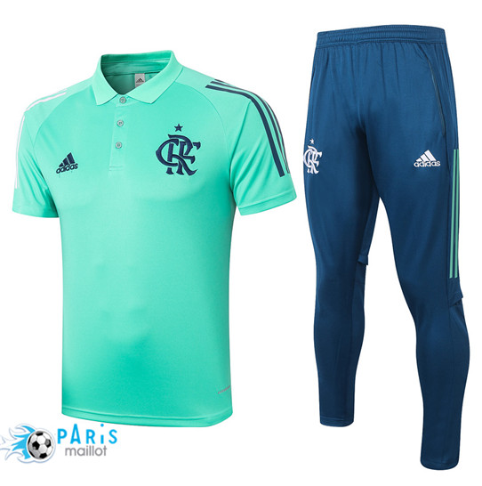 Maillotparis Nouveau Maillot Training POLO Flamenco + Pantalon Vert 2020/21