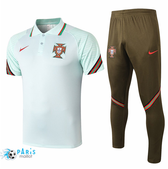 Maillotparis Nouveau Maillot Training Polo Portugal + Pantalon Vert 2020/21