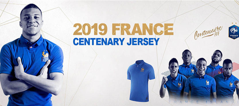 maillotparis Maillot de Foot collector France FFF 100 ans